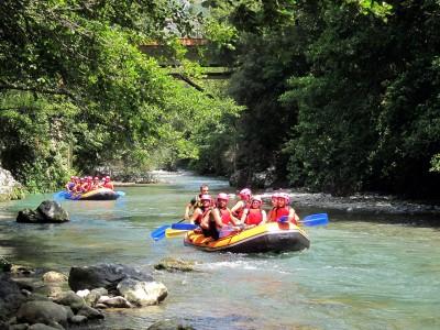 Rafting en el Pirineo para toda la familia